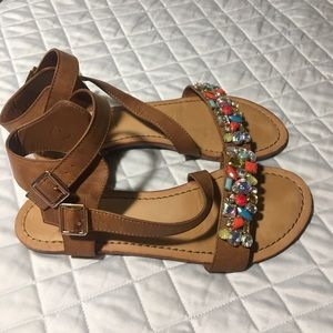 Madden Girl Jewel Sandals Size 7.5